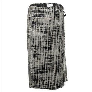 Max Mara | Silk Textured Velvet Wrap Tie Skirt 8